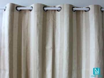 Cortina decorativa THOR franjas verticales beis