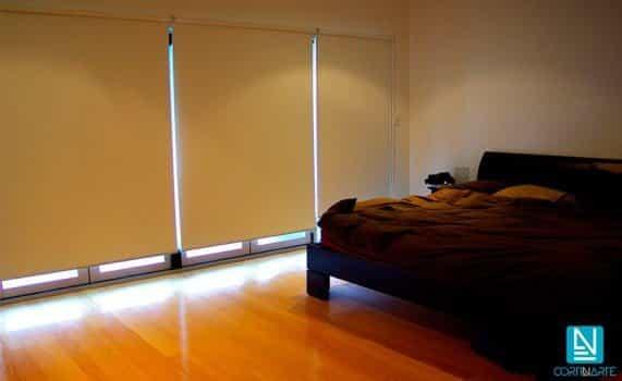 Habitación dormitorio estor enrollable opaco oscuridad