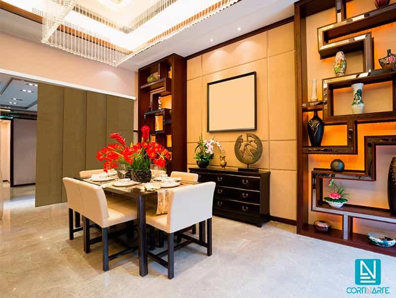 Panel japones decorativo para dividir estancia comedor moderno