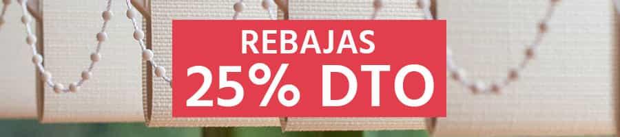 25% descuento Cortinas